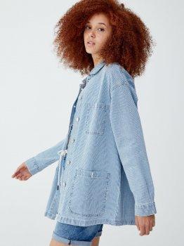 Джинсова куртка Pull & Bear 9712-308-400-AAYL Біла з блакитним