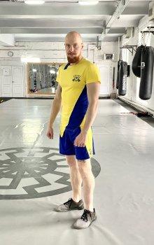 Спортивний чоловічий набір (Футболка шорти) Grade b-yellow 1 0 FitU od0004824 Жовтий