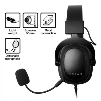 Навушники Hator Hypergang EVO Black HTA-810