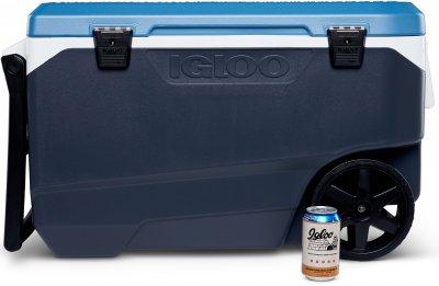 Термобокс Igloo Maxcold Latitude 90 Roller на колесах 85 л Синій із сірим (0342233448878)