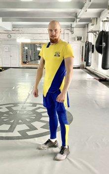 Спортивний чоловічий набір (Футболка тайтси шорти) Grade UA2 3 0 FitU od0004821 Жовтий