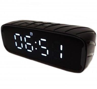 Портативна Bluetooth стерео колонка годинник будильник WSTER WSA-858 BT Чорна (858 B)