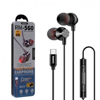 Наушники с микрофоном Remax RM-560 Type-C черные