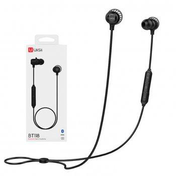 Bluetooth наушники с микрофоном UiiSii BT118 черные