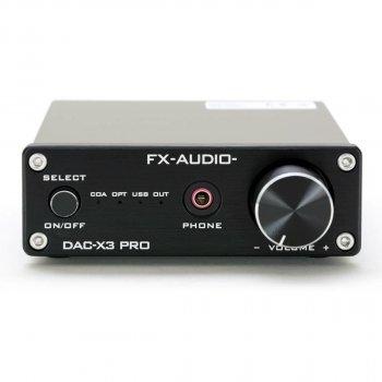 Цифро-аналоговый преобразователь и усилитель для наушников FX Audio DAC-X3 Pro Black