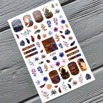 Наклейка для нігтів YWK F699