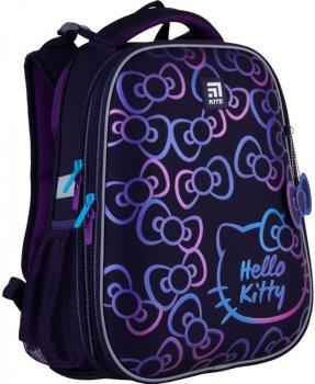 Рюкзак Kite Education Hello Kitty каркасный 1000 г 38х29х16 см 16 л Темно-фиолетовый (HK21-531M)