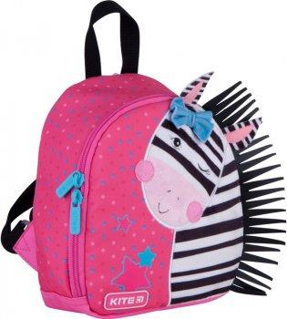 Рюкзак Kite Kids Zebra для дівчаток 150 г 22х20х9 см 3.25 л Рожевий (K21-538XXS-1)