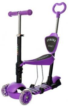 Cамокат 5в1 iTrike Maxi Violet (JR 3-026-K violet)