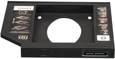 """Адаптер під'єднання Frime HDD/SSD 2.5"""" у відсік привода ноутбука SATA/mSATA 12.7 mm (FHDC127P)"""
