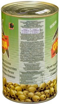 Оливки Coopoliva без кісточок Зелені 4.3 л (8410522002789)