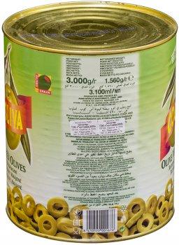 Оливки Coopoliva нарезка Зеленые 3 л (8410522001676)