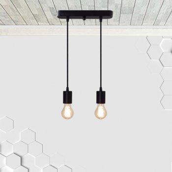 Светильник подвесной на 2-лампы CEILING-2 E27 чёрный