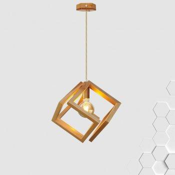Світильник підвісний MOBIUS E27 на 1-лампу, світле дерево