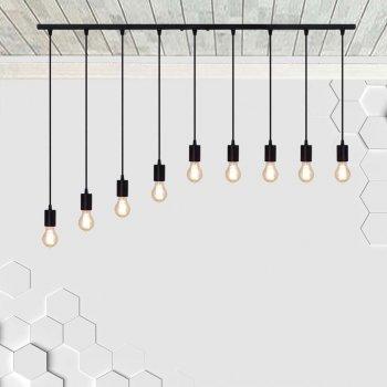 Светильник подвесной на 9-ламп CEILING-9 E27 чёрный