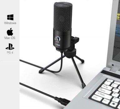 Студійний USB мікрофон Fifine K669B для стримов