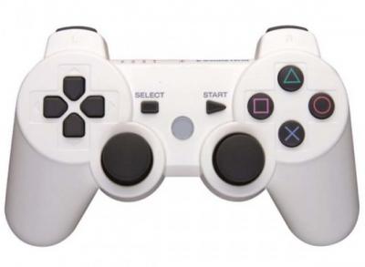 Бездротовий контролер геймпад для PS3 DualShock 3 Wireless білий