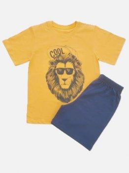 Пижама (футболка + шорты)  Кена 227231-19 Оранжевая