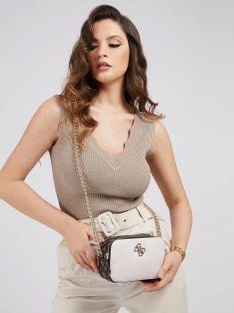 Женская сумка Guess HWPL78-79140 Brown Logo Multi (7618483260991)