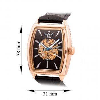 Часы наручные из красного золота с механизмом скелетом 000134574