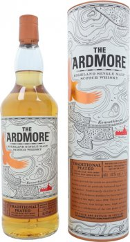 Виски односолодовый Ardmore Traditional Peated в подарочной упаковке 1 л 40% (5010019638052)