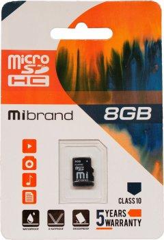 Mibrand microSDHC 8GB Class 10 (MICDHC10/8GB)