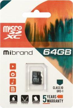 Mibrand microSDXC 64GB Class 10 UHS-1 (MICDXU1/64GB)