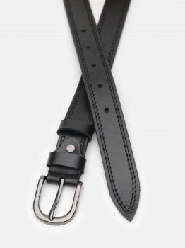 Женский ремень кожаный Laras CV10W43 100 см Черный (ROZ6400030391)