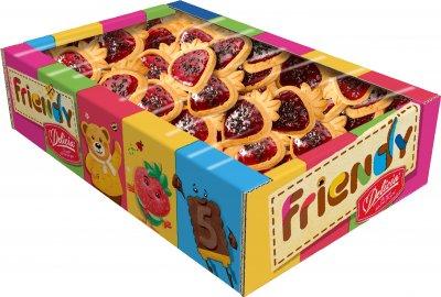 Упаковка печенья сдобного Делиция Friendy Желейная ягодка 600 г (4823102503486)