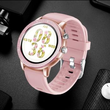 Смарт-годинник Smart Forever з пульсометром і сенсорним дисплеєм + Bluetooth 4.0 + крокомір Рожевий