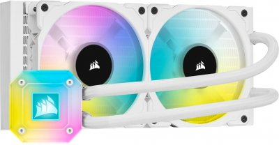 Система водяного охлаждения Corsair iCUE H100i Elite Capellix RGB White (CW-9060050-WW), Intel: 2066/2011/1200/1151/1150/1155/1156/1366, AMD: TRX4/TR4/AM4/AM3/AM2, 277х120х27 мм