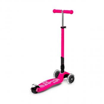 Самокат MICRO Maxi Deluxe LED Рожевий Складаний Micro MMD096