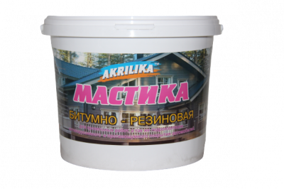Мастика бітумно-гумова Akrilika 10 кг