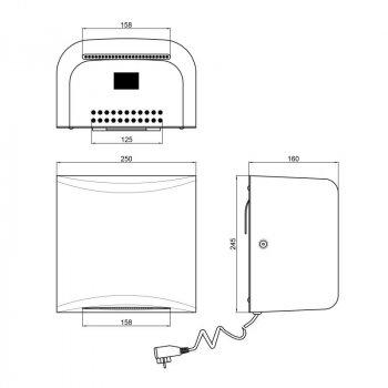 Сушилка для рук Qtap Susici 1250 Вт (S950MS)