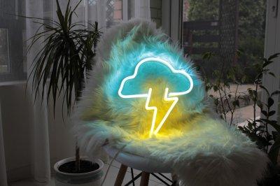 Неоновий світильник Neon Lightning «Хмара з грозою»