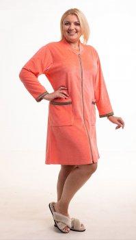 Халат Bonita женский велюровый персиковый цвет