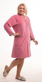 Халат Bonita женский велюровый пудровый цвет