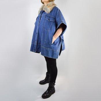 Джинсова куртка Motel MOD56AI19 безрукавка утеплена синя