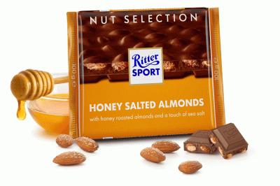 Шоколад Ritter Sport Медовий солоний мигдаль 100 г * 5 шт