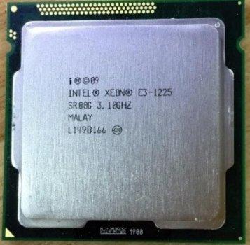 Процессор Intel Xeon E3-1225 (S1155/4x3.1GHz/5GT/s/8MB/80Вт/BX80623E31225) Б/У