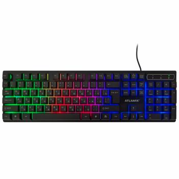 Професійна провідна ігрова клавіатура з RGB підсвіткою Atlanfa AT-6300 (6300)