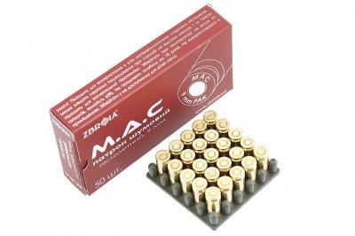 Патрони 9 мм холості ZBROIA MAC пістолетні 25 шт
