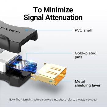 Адаптер HDMI-HDMI Vention M/M 4K v.2.0 UHD 60Hz Upgraded Black (AIRBO)