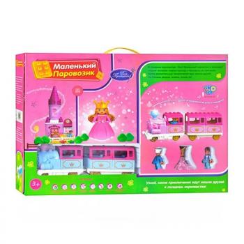 Детский конструктор для девочек Limo Toy M 0444 U/R Железная дорога (84 детали)