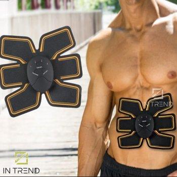 Миостимулятор Beauty Body Mobile Gym для мышц пресса на 6 режимов – качественный домашний массажер тренажер бабочка, Чёрный