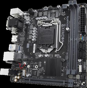 Материнська плата Gigabyte H310N 1.1 (s1151, Intel H370, PCI-Ex16)