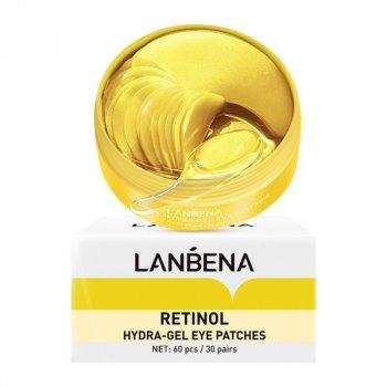 Гідрогелеві патчі з ретинолом і колагеном LANBENA Face Mask Retinol Collagen 60 шт
