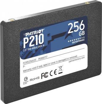 """Твердотільний накопичувач Patriot P210 256GB 2.5"""" SATAIII TLC (P210S256G25)"""
