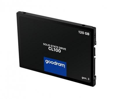 "Твердотільний накопичувач SSD Goodram CL100 Gen.3 120GB 2.5"" SATA III 3D NAND TLC (SSDPR-CL100-120-G3)"