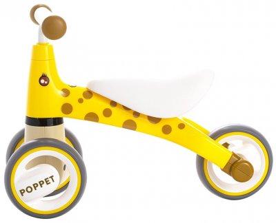 Детский трёхколёсный беговел POPPET Жираф Лори Желто-коричневый (PP-1601Y)